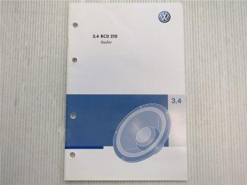 VW Radio RCD 210 Betriebsanleitung Bedienungsanleitung 05/2008