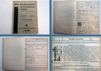 Merk- und Arbeitsblätter für Kraftfahrzeuggewerbe Fachkunde Fachrechnen 1945
