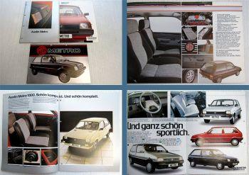 3x Austin Rover MG Metro Prospekte 1980er Jahre