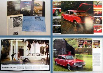 5x Austin Maxi / Maxi HL / Maxi 1750 HL Prospekte 1970er Jahre