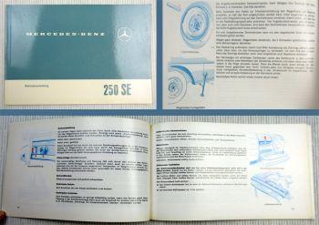 Mercedes Benz 250SE W108 Betriebsanleitung 1967 Wartung Pflege