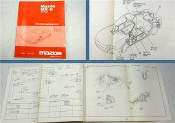 Werkstatthandbuch Mazda MX-6 GE Airbag Schaltpläne Elektrik Schaltplan 1993