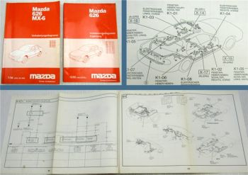 Werkstatthandbuch Elektrik Mazda 626 MX-6 Typ GE GE1242 GE12B2 GE14B2 GE16J2