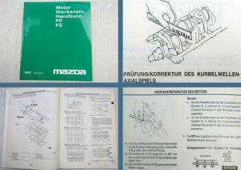Mazda Premacy Mazda 323 Mazda MPV Motor FP + FS Werkstatthandbuch 1997