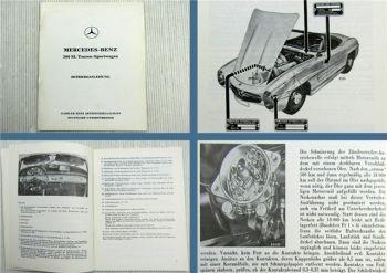 Mercedes Benz 300SL Roadster W198 II Betriebsanleitung Stand 1959 Ausgabe 1985