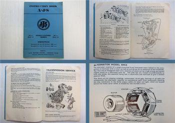 AJS Model 16 18 20 Standart / Deluxe 31 Standart / Deluxe Instruction Book 1958