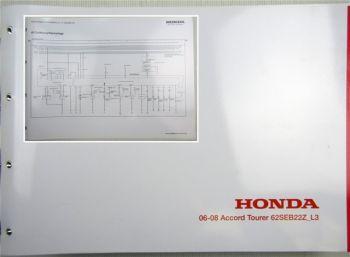 Honda Accord L3 Schaltpläne Stromlaufpläne Schaltplan Elektrik MJ 2006 - 2008