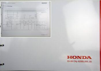 Honda City 00 Schaltpläne Elektrik Stromlaufpläne Schaltplan MJ 2003 - 2008