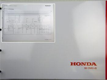 Honda Civic iS Schaltpläne Stromlaufpläne Elektrik Elektrischer Schaltplan 2006