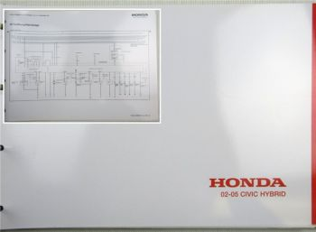 Honda Civic Schaltpläne Stromlaufpläne Elektrischer Schaltplan MJ 2002 - 2005