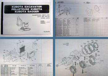 Ersatzteilkatalog Kubota U10-3 Ersatzteilliste Parts List Liste des Pieces
