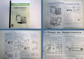 Betriebsanleitung Kubota KH-28 Bagger