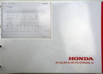 Honda City PH ID MA PA 4J Schaltpläne Elektrik Stromlaufpläne Schaltplan 2009