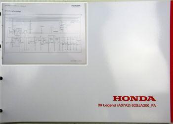 Honda Legend  FA Elektrische Schaltpläne Stromlaufpläne Schaltplan Elektrik 2009