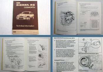 Ford Sierra RS Cosworth Service Schulungshandbuch 1985 Techniker Information