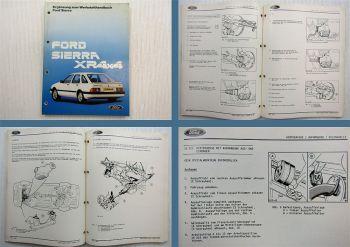Ford Sierra XR 4x4 Werkstatthandbuch Reparaturanleitung Ergänzung 1985
