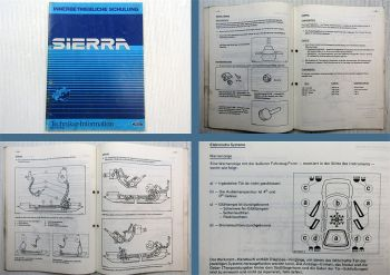 Ford Sierra Techniker Information Innerbetriebliche Schulung Training 1982