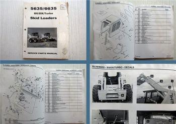 Gehl 5635 6635 SX DX Turbo Skid Loader Spare Parts List Ersatzteilkatalog 1998