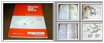Verkabelungsdiagramm Mazda MX-6 626 Kabelbaum Schaltplan Elektrik Typ GE 1996