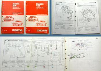 Werkstatthandbuch Mazda 626 Typ GD Motor F2 Kat Getriebe Kupplung Schaltpläne