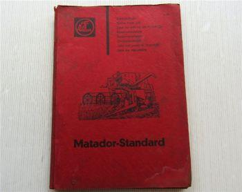 Claas Matador Standard Mähdrescher Ersatzteilliste Ersatzteilkatalog 04/1964