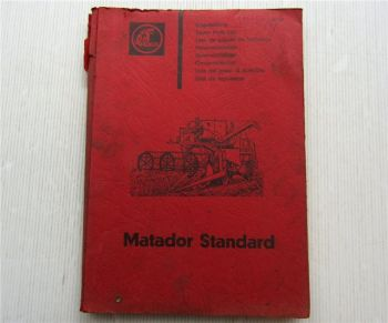 Claas Matador Standard Mähdrescher Ersatzteilliste Ersatzteilkatalog März 65