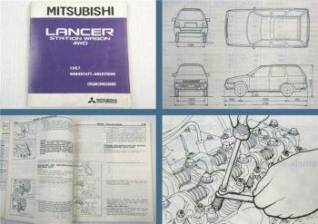 Werkstatthandbuch Mitsubishi Colt Lancer Station Wagon 4WD C37V Stand 1987