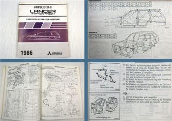 Werkstatthandbuch Mitsubishi Colt Lancer Station Wagon 1986 Karosserie C12V C14V