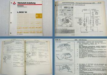 Mitsubishi L300 II Werkstatthandbuch Ergänzung 1998 MPI SRS Airbag
