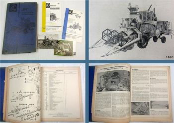 Claas SFB Matador Mähdrescher Betriebsanleitung Bedienung Ersatzteilliste 1962