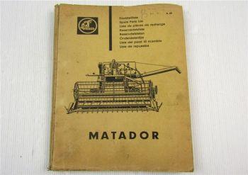 Claas Matador Mähdrescher Ersatzteilliste Ersatzteilkatalog 04/1964