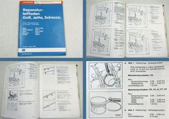 Werkstatthandbuch VW Golf 1 Scirocco Einspritzmotor DX EG JH JJ KT 2H