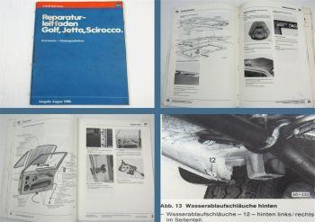 Reparaturleitfaden VW Golf 1 Typ 17 Scirocco Karosserie Werkstatthandbuch 1986