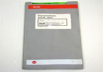 Reparaturleitfaden Audi 80 B4 Werkstatthandbuch 1,9 TDI Einspritzanlage 1Z