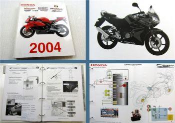 Honda CBR CBF Schulungshandbuch Technik Service Training Modelljahr 2004