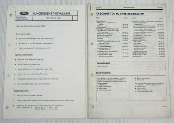 Ford Probe LX GT Antiblockiersystem ABS Service Training Schulung Lehrgang 1991