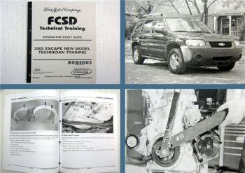 Ford 2005 Escape New Model Technician Training Study Guide FCSD 02/2004