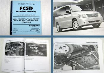 Ford 2004 Freestar Monterey New Model Technician Training Study Guide FCSD 09/03