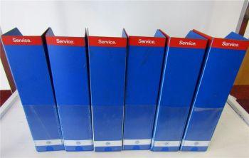 6 Sammelordner Stehsammler für VW Reparaturanleitungen Werkstatthandbücher