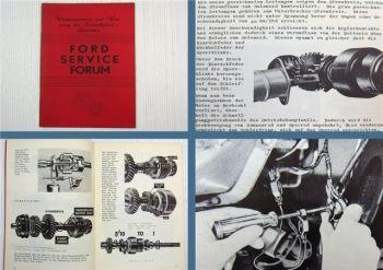 Ford Service Forum Wirkungsweise und Wartung Schnellgangetriebe 1956er Modelle