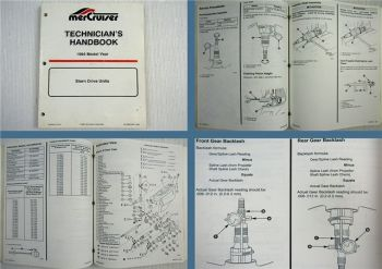 Mercruiser Stern Drive Units Model Year 1994 Technicians Handbook
