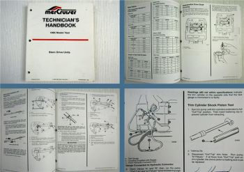 Mercruiser Stern Drive Units Model Year 1995 Technicians Handbook