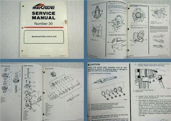 Mercruiser Blackhawk Stern Drive Unit Service Manual 1992