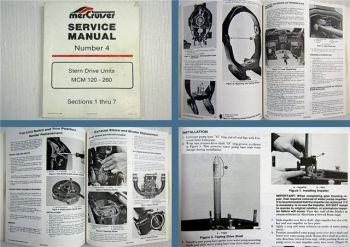 Mercruiser Stern Drive Units MCM 120-260 Service Manual 1986