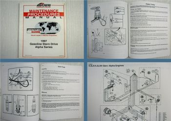Mercruiser Gasoline Stern Drive Alpha Series Maintenance Manual 1997