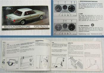 Ford Taunus Limousine Turnier HD Betriebsanleitung Bedienungsanleitung 1976