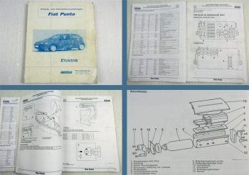 Fiat Punto Elektrik Arbeits- und Informationsunterlage Schulung Service 1999