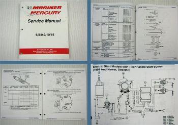 Mariner Mercury 6 8 9.9 10 15 Engine Service Manual starting model year 1986