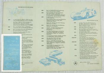 Prospekt Daimler Benz Werksgeschichte Rennerfolge Produktionsprogramm 1955