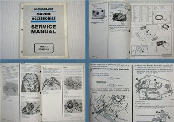 Quicksilver Marine Accessoires Remote Controls Service Manual 1989